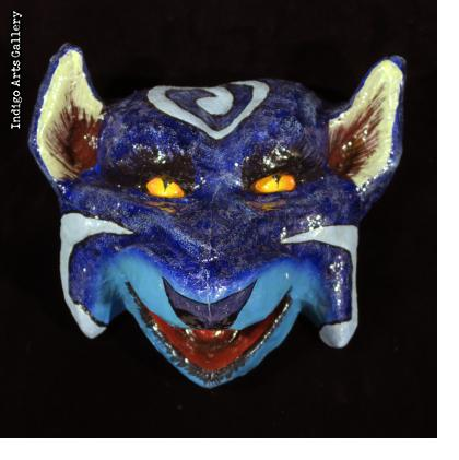 Blue Fox Carnival Mask