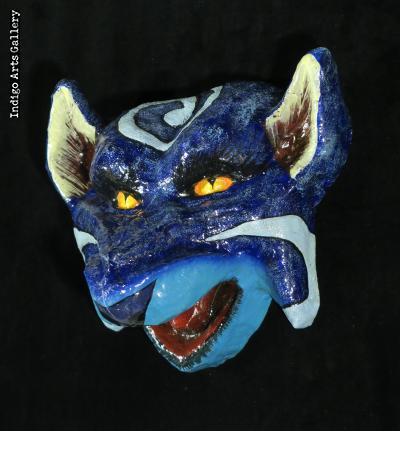 Blue Fox Carnival Mask