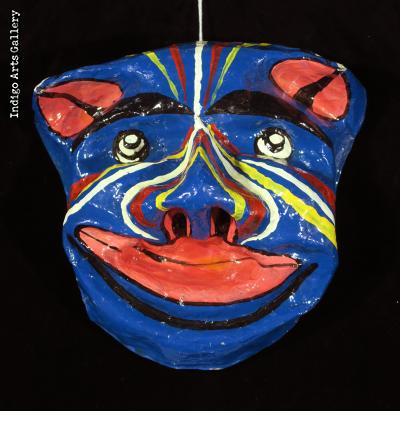Blue Beast Carnival Mask