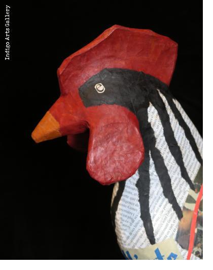 Papier Maché Rooster #1