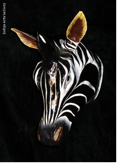 Zebra Carnival Mask