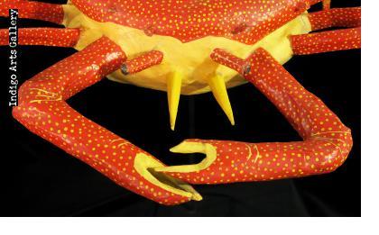 Crab - Papier Maché Carnival Sculpture