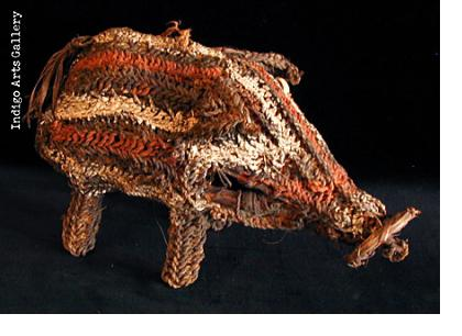 Woven Fetish Pig, Iatmul tribe