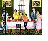 N-19 La Derniere Cene (Last Supper) Theard Aladin (Haiti c.1944 -1993) 1990, Oil