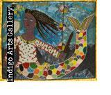 P-97 La Sirene Evelyn Alcide (Port-au-Prince, Haiti) c.2007 Sequinned vodou banner