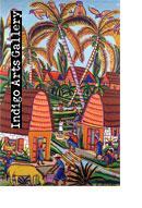 P-106 Village and Stream Montas Antoine (Haiti, 1926-1988) c.1960, Oil