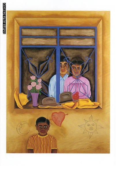 """P-12  """"Fotografia""""  Enrique Flores, 1989, gouache."""