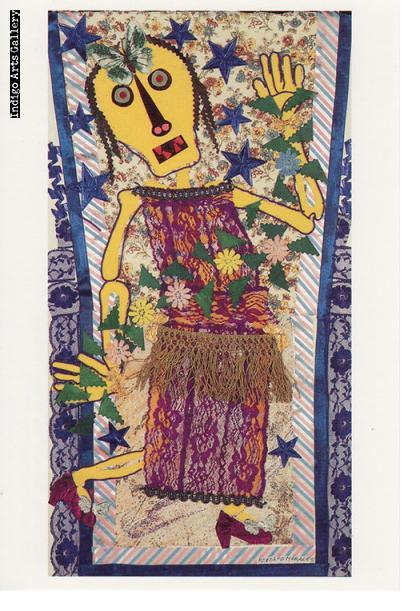 """P-30  """"Danza de la Calaca""""   Rodolfo Morales, 1993, collage."""
