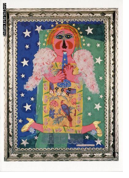 """P-49  """"En el Cielo Tambien se Baila""""  Rodolfo Morales, 1996, collage."""