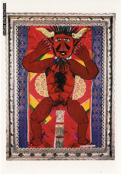 "P-50  ""Al Calor del Amor (In the Heat of love)""  Rodolfo Morales, 1996, collage."