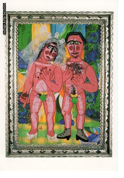 """P-53  """"Por Ti Peco, Corazon (For Thee I Sin)""""  Rodolfo Morales, 1996, collage."""
