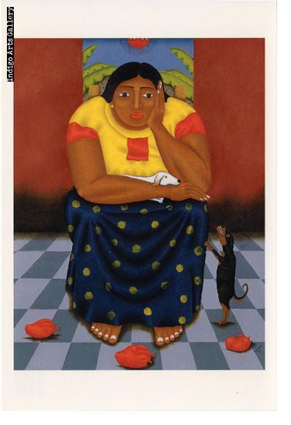 """P-77  """"Hasta Encontrarlos (Until They Return )""""  Fernando Olivera, 2001, aquatint."""