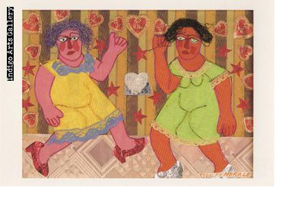 """P-8  """"Bailando""""  Rodolfo Morales, 1989, collage"""