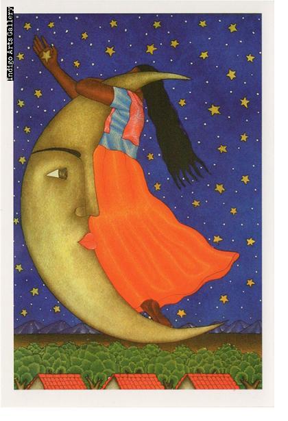 """P-94  """"Untitled (La Luna)""""  Fernando Olivera, 2005, aquatint."""