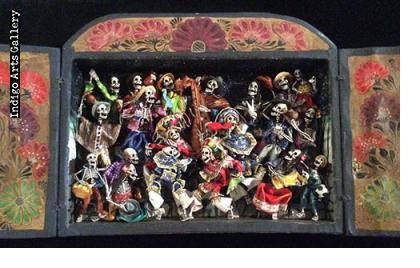 Dance of the Scissors) - Retablo