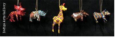 Painted Soda Can Animal Ornaments
