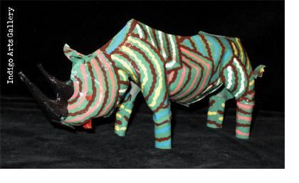 Painted Rhino (large size)