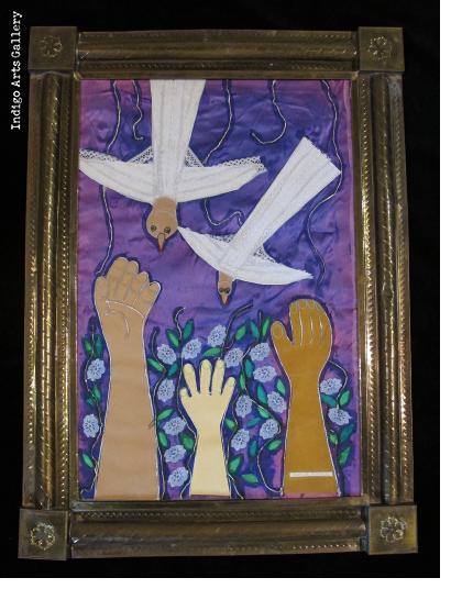 Rodolfo Morales - Birds and Hands - Collage (framed)
