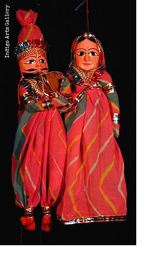 Rajastani Puppets - Pink