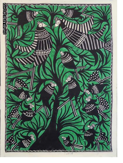 Birds in a Green Tree