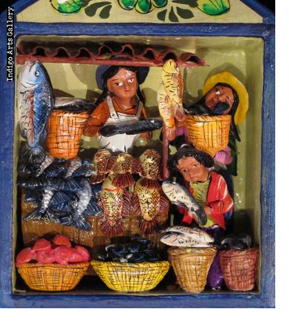 Fish Vendor Retablo