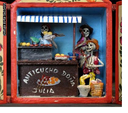 Anticuchos Vendor of the Dead - Retablo