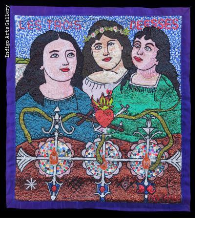 Les Trois Déesses (Marassa Trois) - Vodou flag