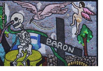 Baron au Cimetière - Vodou Flag