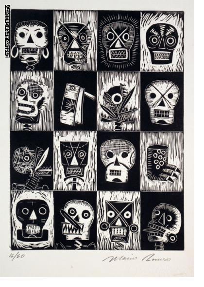 Mario Romero - Untitled (Loteria de los Muertos)