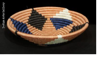 Medium Terra Cotta and Blue Star Basket