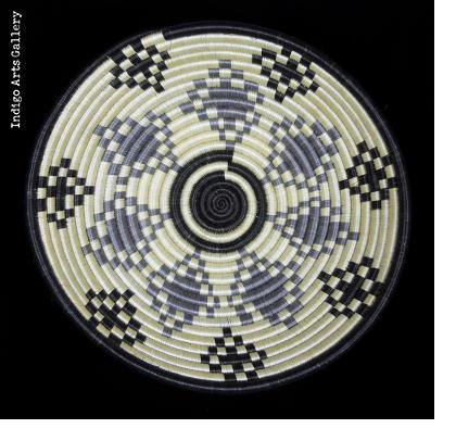 Medium Grey, Black and White Basket