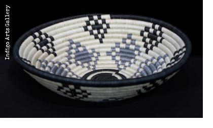 Medium Grey, Black and White Basket