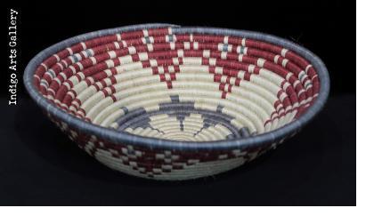 Grey, Red and Natural Flower Petal Basket