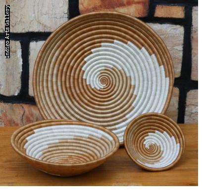 Large swirl-pattern baskets