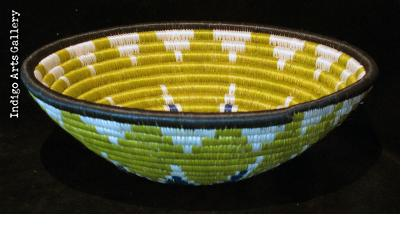 "Medium Cobalt/Green ""Hope"" Basket"