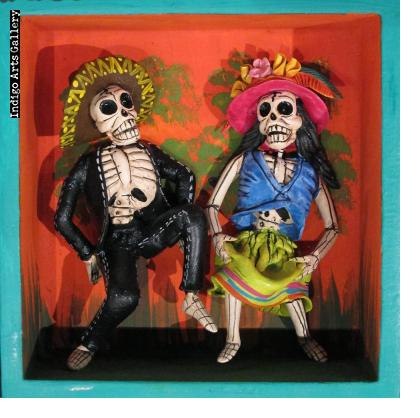 Dance of the Calaveras - Retablo