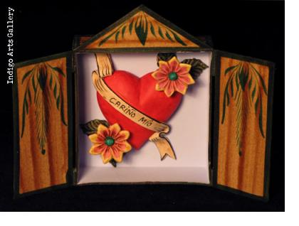 Heart in a Box - Retablo