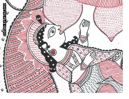 Baby Krishna Suckling at the Breast of the Demon Putana