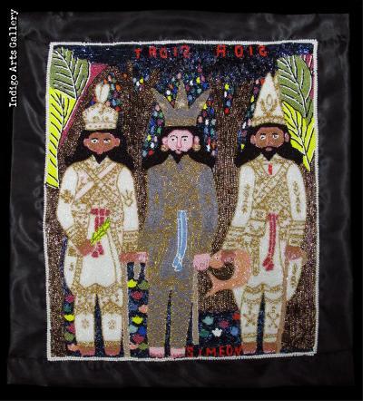 Trois Rois - Vodou Flag