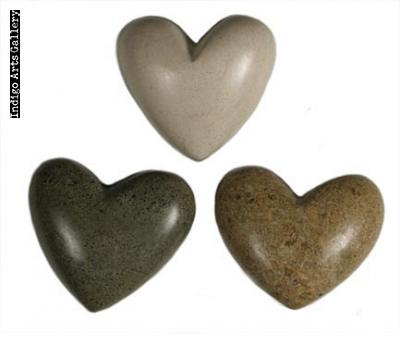 Hearts for Haiti! Hand-carved Stone Hearts - Small