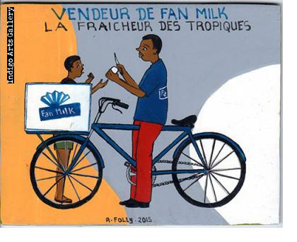"""Vendeur de Fan Milk"" Signboard"