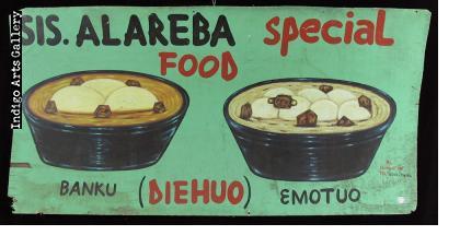 Sis. Alareba Special Food - Signboard