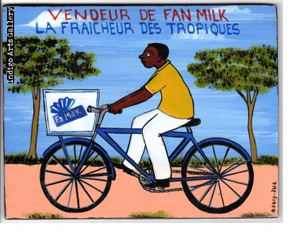 """Vendeur de Fan Milk"" Mini Signboard"