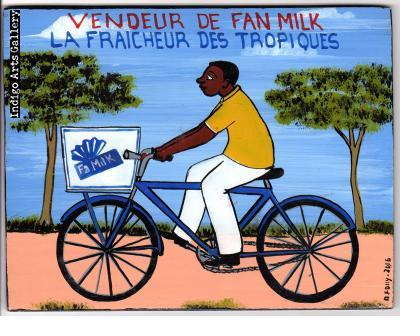 """Vendeur de Fan Milk"" Mini Signboard"