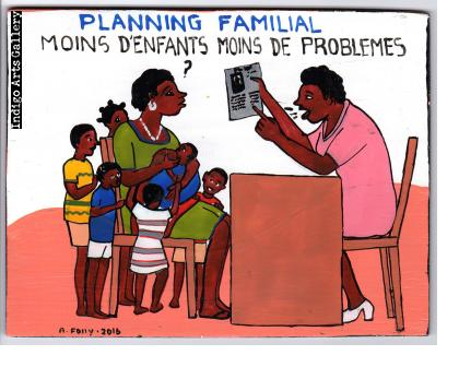 """Planning Familial"" Mini Signboard"