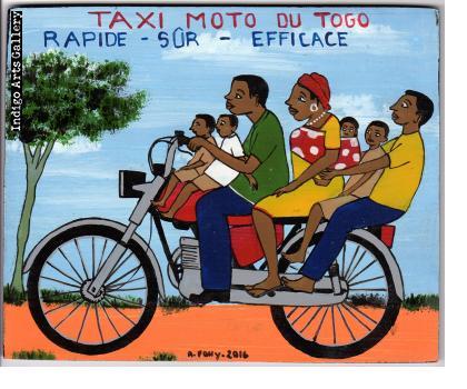 """Taxi Moto du Togo"" (#2) Mini Signboard"