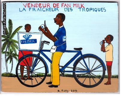 """Vendeur de Fan Milk"" (#3) Mini Signboard"