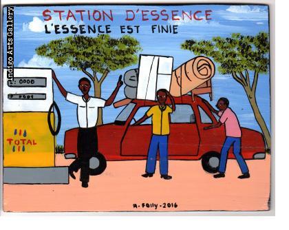 """Station d'Essence"" Mini Signboard"