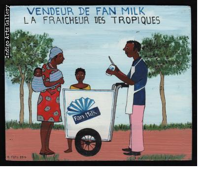 Vendeur de Fan Milk - Mini Signboard