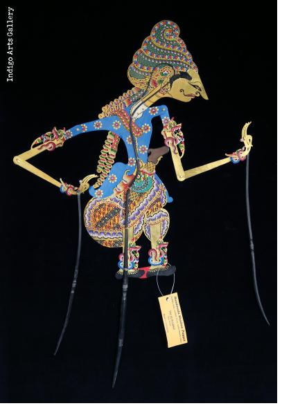 """Kamajaya"" (""The God of Love"") ""Wayang Kulit"" Javanese Shadow Puppet by Tri Suwarno"